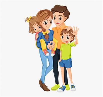 Clipart Animated Parent Single Cartoon Happy Parents