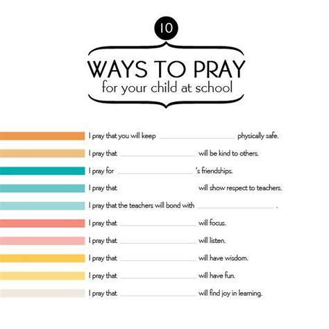 ways  pray   child  school eyes