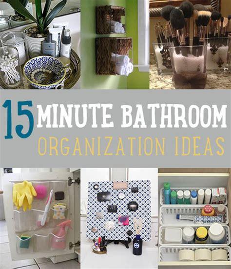 15 Minute Diy Bathroom Organization Ideas To Follow • Veryhom