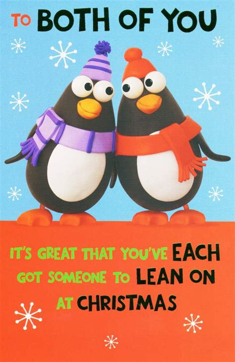 The holiday season is here, which means including a coupon or invitation to a special event with your card is a nice perk for your customers, and it's a. To Both Of You Funny Christmas Card   Cards   Love Kates