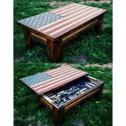 Diy Hidden Gun Cabinet Plans by American Flag Coffee Table Hidden Gun Case House Ideas