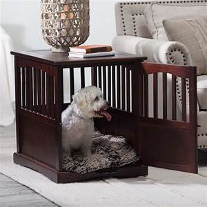 indoor wooden dog crate large pet kennel cat bed puppy With small dog crate furniture