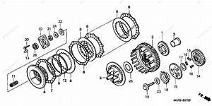 Honda Motorcycle 2002 Oem Parts Diagram For Clutch