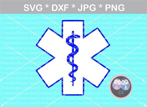Svg cut files are a graphic type that can be scaled to use with the silhouette cameo or cricut. EMS, Star of Life, Medical, digital download, SVG, DXF ...