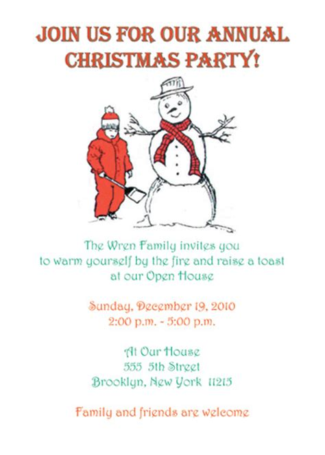 how to write invitation letter for christmas party cover