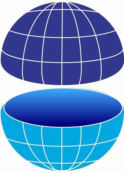 Globe Half Dark Bottom Symbols Medium