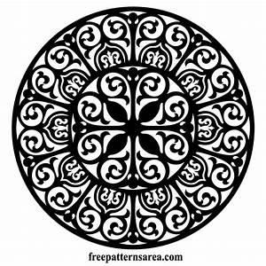 Circle Ornament Vector Floral Damask Free Pattern Laser