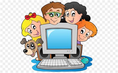 Computer Cartoon Clip Art