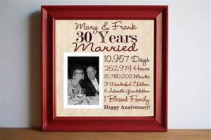 wedding anniversary 30th wedding anniversary gift by With gifts for 30th wedding anniversary