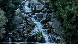 Download, Wallpaper, 1920x1080, Waterfall, Stones, Water