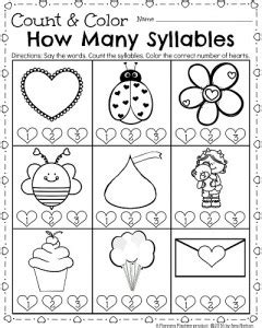 coloring pages kindergarten worksheets for february count