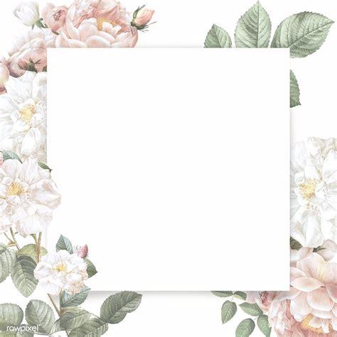 feminine flower card template royalty  stock