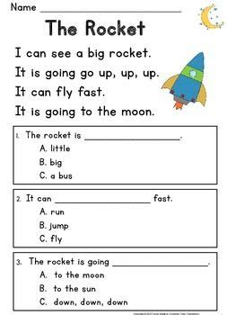 kindergarten reading comprehension passages questions guided reading level c kids education