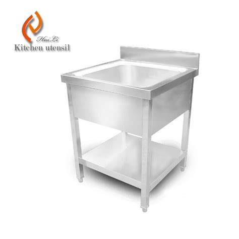 Stainless Steel Utility Sinks Free Standing by Single Bowl 500x500mm Free Standing Heavy Duty Stainless