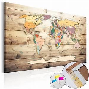 Weltkarte Bild Holz : bild weltkarte pinnwand holz muster retro vintage ~ Lateststills.com Haus und Dekorationen