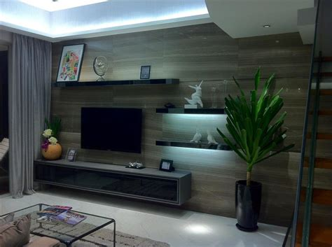 tv console tv feature wall simple closet  pte