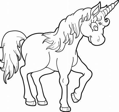 Unicorn Coloring Pages Drawing Flying Printable Unicorns