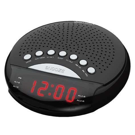 Supersonic 97095096M Dual Alarm Clock Radio - Black