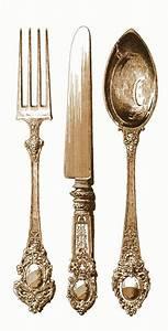 Antico argenteria - coltello, forchetta, cucchiaio posate ...