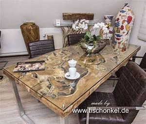 Esstisch Aus Altholz : der tischonkel esstisch aus wurzelholz mit edelstahl und glas ~ Sanjose-hotels-ca.com Haus und Dekorationen