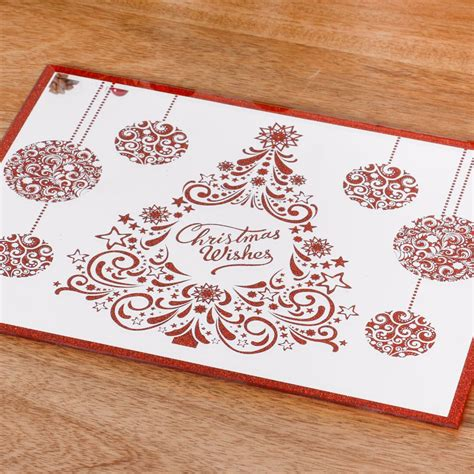 set   glitter christmas placemats