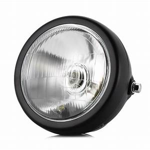 6 Inch 12 V 35 W Sepeda Motor Lampu Halogen Logam Retro