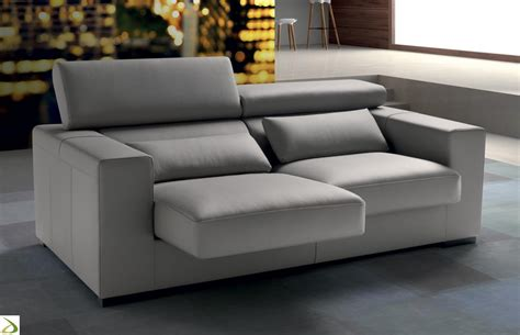 Divano Letto 2 Posti Design : Linear Sofa Clint With 2, 3 Or 4 Seats Arredo Design Online