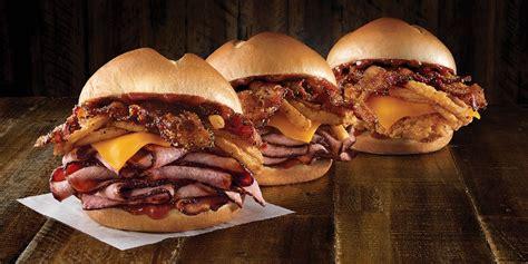arby bourbon sandwich bbq steak chicken arbys brisket fried meat