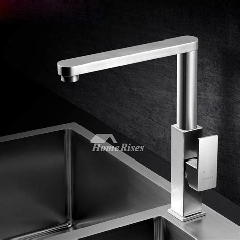 contemporary kitchen faucets brushed nickel silver