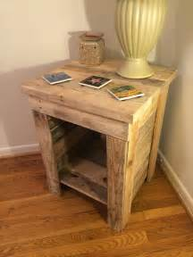 Make A Bench Out Of Pallets by Diy Pallet Bedside Table Pallet Furniture Plans