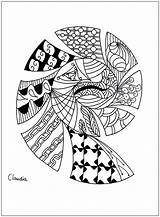 Coloring Zentangle Simple Pages Adults Adult Drawing Zentangles Claudia Hard Printable Justcolor Dragons Children Nggallery Thanks sketch template