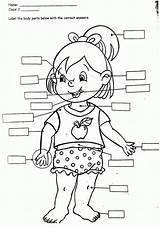 Coloring Body Parts Pages Popular sketch template