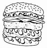 Coloring Junk Cheeseburger Pages Double Fast Decker Unhealthy Drawing Getcolorings Printable Getdrawings Colorings Template sketch template