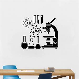 microscope science scientist chemistry vinyl wall sticker With awesome science wall decals