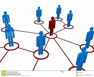 Network Or Team Diagram Stock Photography