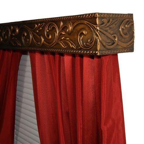 bcl acanthus vine curtain rod valance set curtain rods