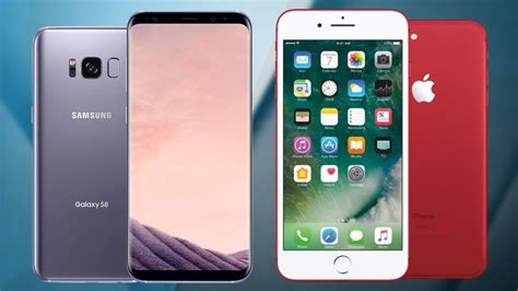 iphone vs samsung galaxy s8 vs iphone 7 samsung and apple flagships