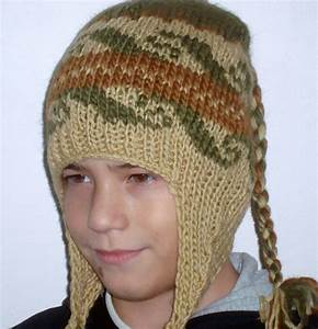 Handmade Knit Hat for Boys Hat with Earflap Hat pre teen