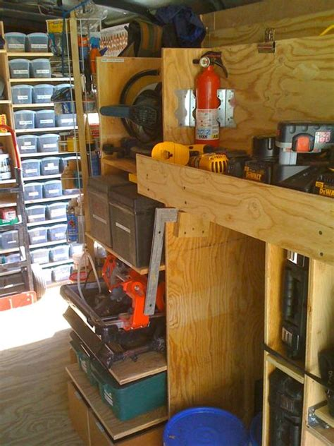 organized tool trailer   world remodel crazy