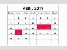 Semana Santa 2019 CalendarioLaboralcommx