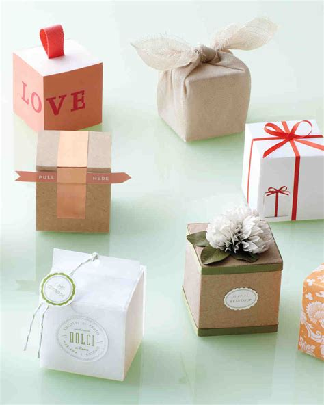 ways  decorate  favor box martha stewart weddings