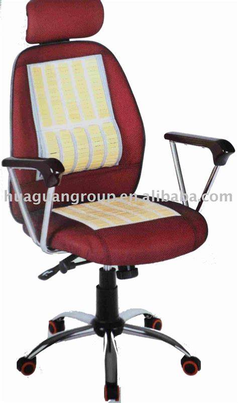 bamboo mat as seat for office chair to keep cool jpg