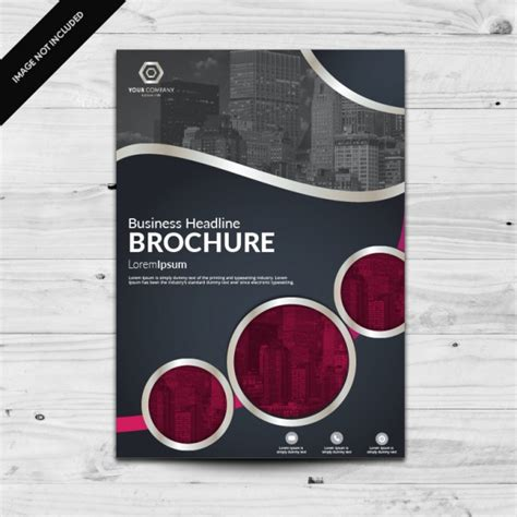 Graphic Design Brochure Templates by Brochure Template Design Vector Free