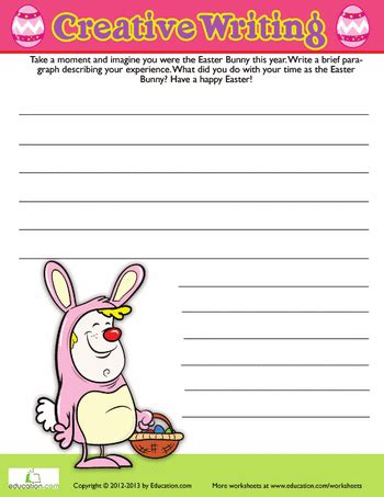 easter writing prompt prompts worksheets and school