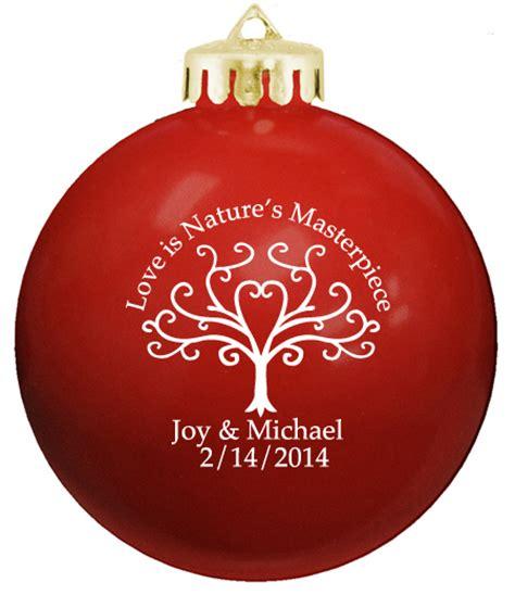 Christmas Balls, Personalized Wedding Ornaments