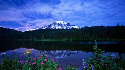 Rainier Mt Mountains Nature Desktop Wallpapers Lake