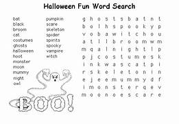 puzzles coloring part 2 halloween word search