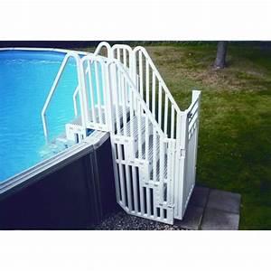 Escalier Pour Piscine Hors Sol : double escalier protection piscine hors sol accessoires ~ Dailycaller-alerts.com Idées de Décoration