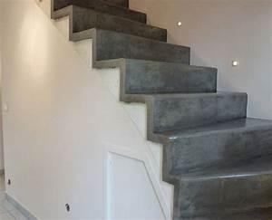 Sol Beton Ciré Prix : herrlich escalier en beton cire sol et b ton cir unifient ~ Premium-room.com Idées de Décoration