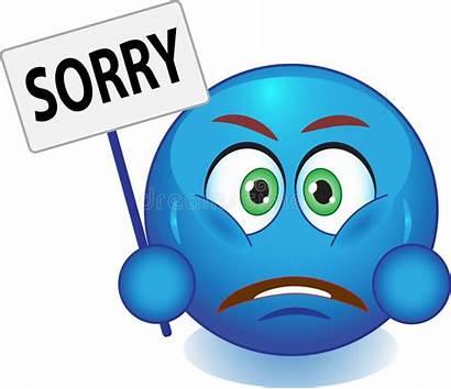 Smiley Excuses Bleu Frustration Entschuldigt Scusa Fait